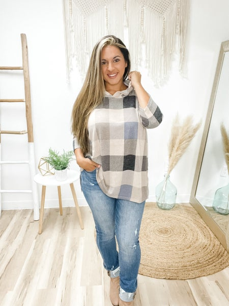 Raise The Checkered Flag Taupe Hooded Top