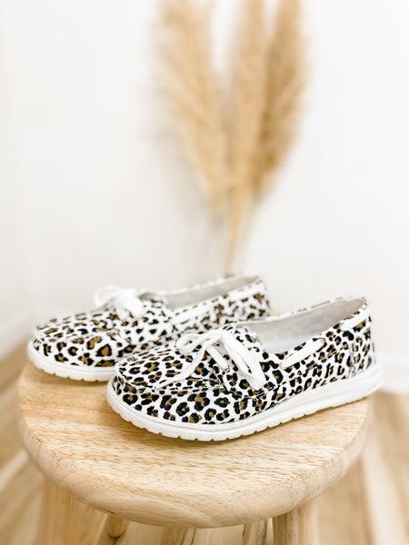 Leopard Print Slip On Shoe