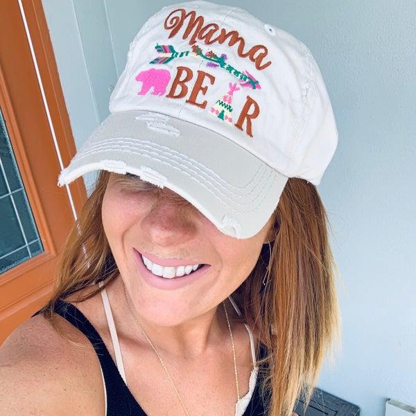 STONE MAMA BEAR WITH ARROW HAT