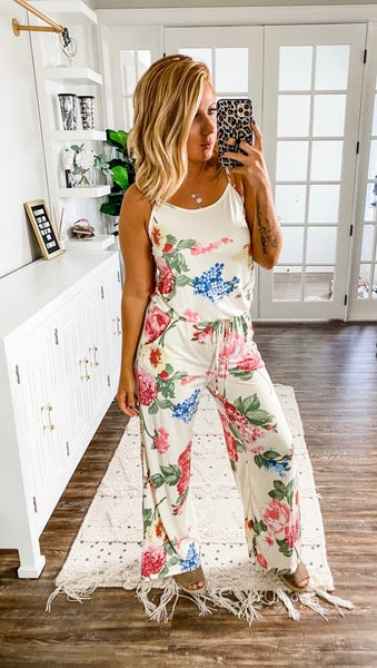 Isn't It Lovely White Floral Jumpsuit