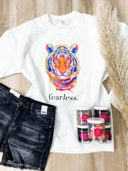 Fearless Tiger Graphic Sweatshirt
