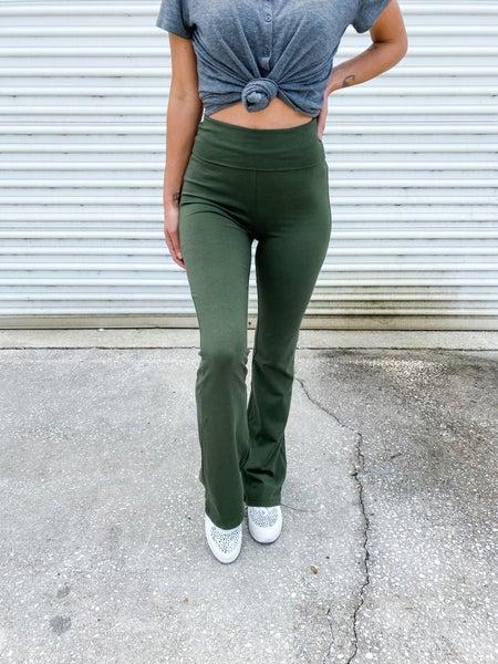 Flare Enough Fold Over Flare Yoga Pants *Final Sale*