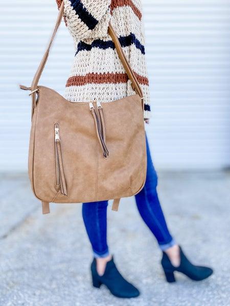 Tan Convertible Backpack Purse
