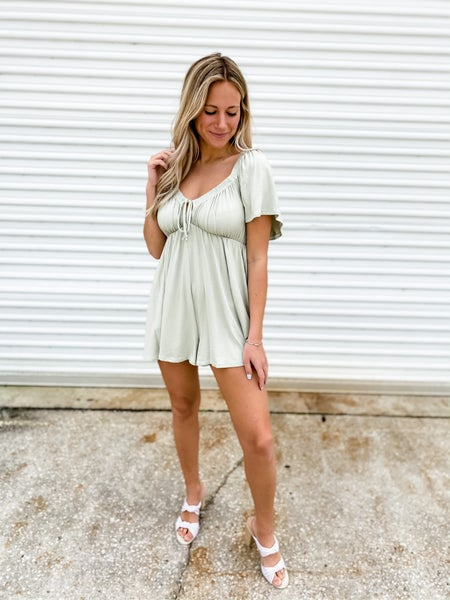 As Sweet As Can Be Sage Romper