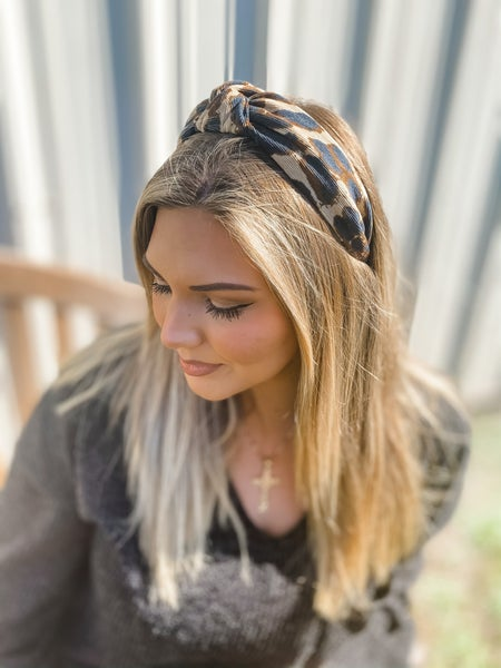 Khaki Leopard Fashion Headband