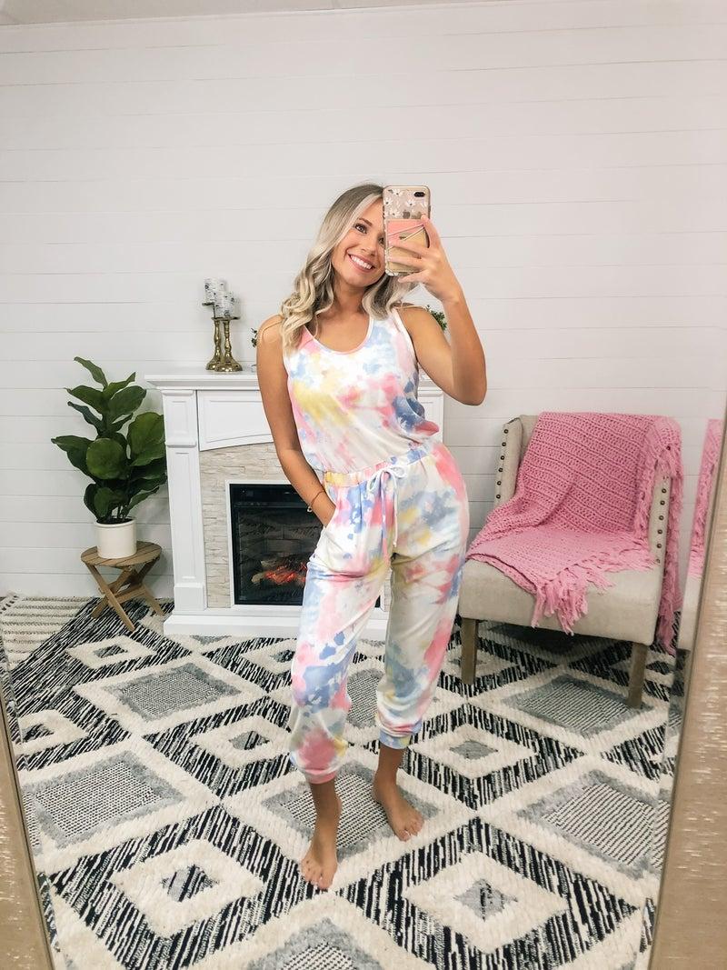 Be True Multi Tie-Dye Jumpsuit