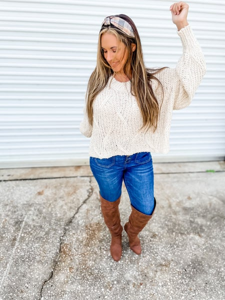 She's Something Special Taupe Knit Sweater