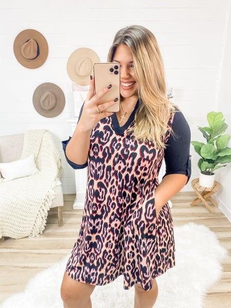 Drive Me Wild Leopard Dress