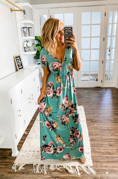 Slow Dancing With You Floral Maxi Dress