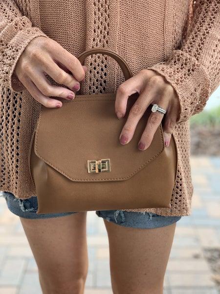 BROWN SMALL HAND BAG