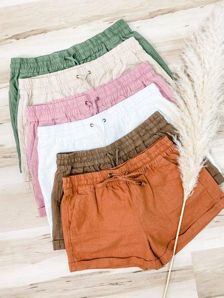 On A Short Notice Linen Shorts