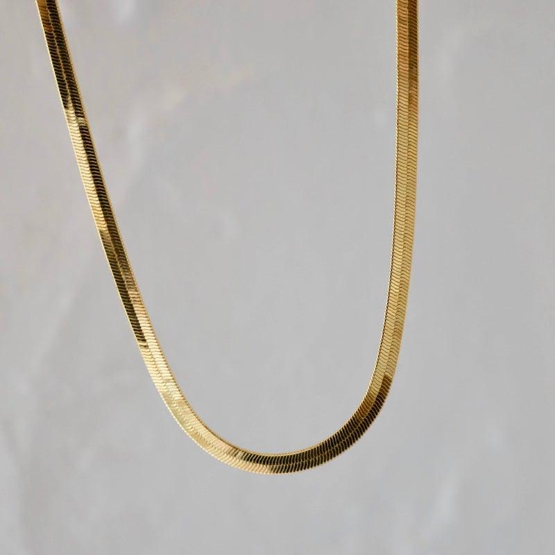 Herringbone Gold Plate Chain