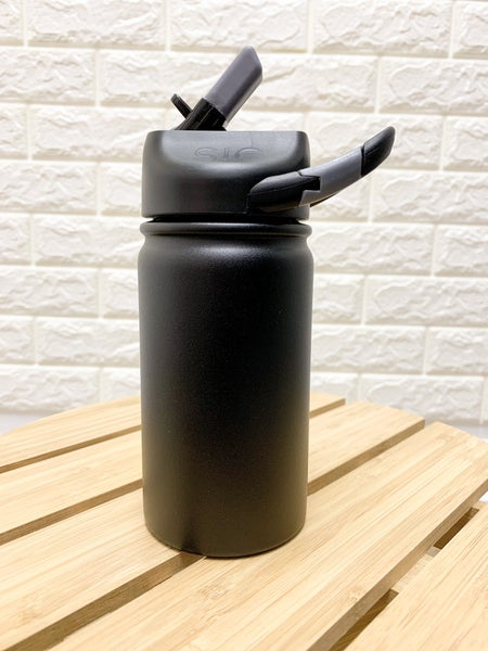 12 oz lil SIC Tuff Black Stainless Steel Kids Water Bottle