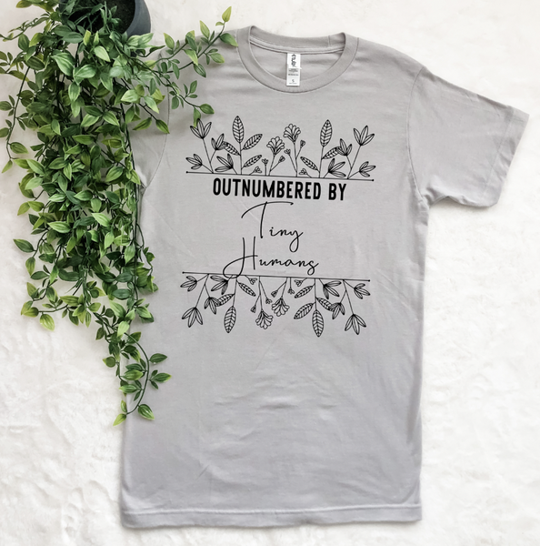 OUTNUMBERED BY TINY HUMANS GRAPHIC TEE