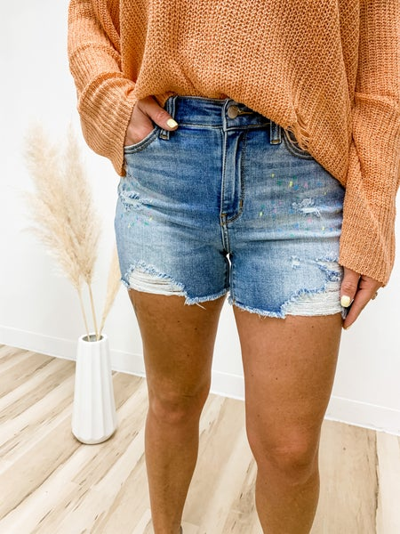 Paint The Town Judy Blue Shorts