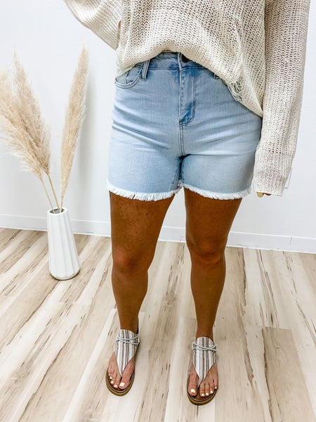 Fray The Day Light-Wash Judy Blue Shorts