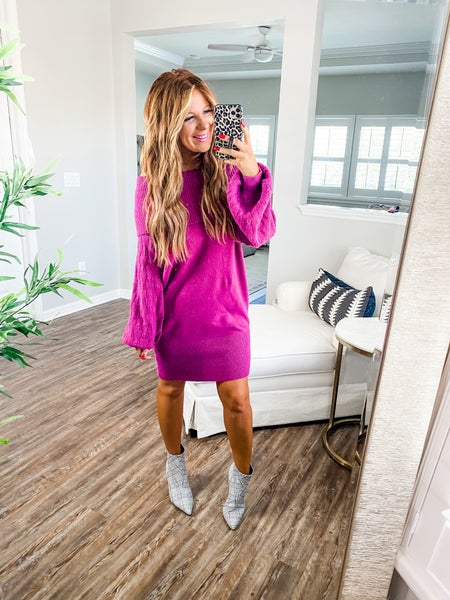 In The Cards Off The Shoulder Sweater Dress