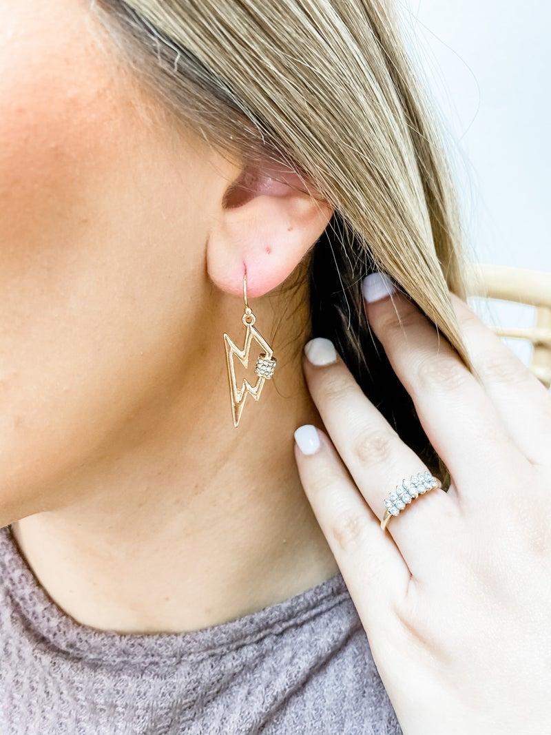 Flashy Bolt Earrings
