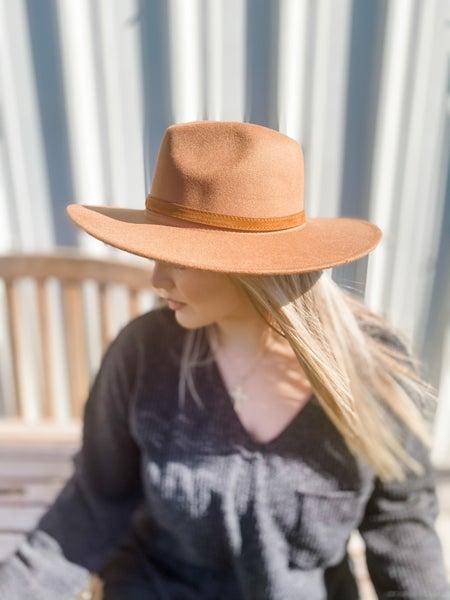 Dark Khaki Wide Brim Panama Hat