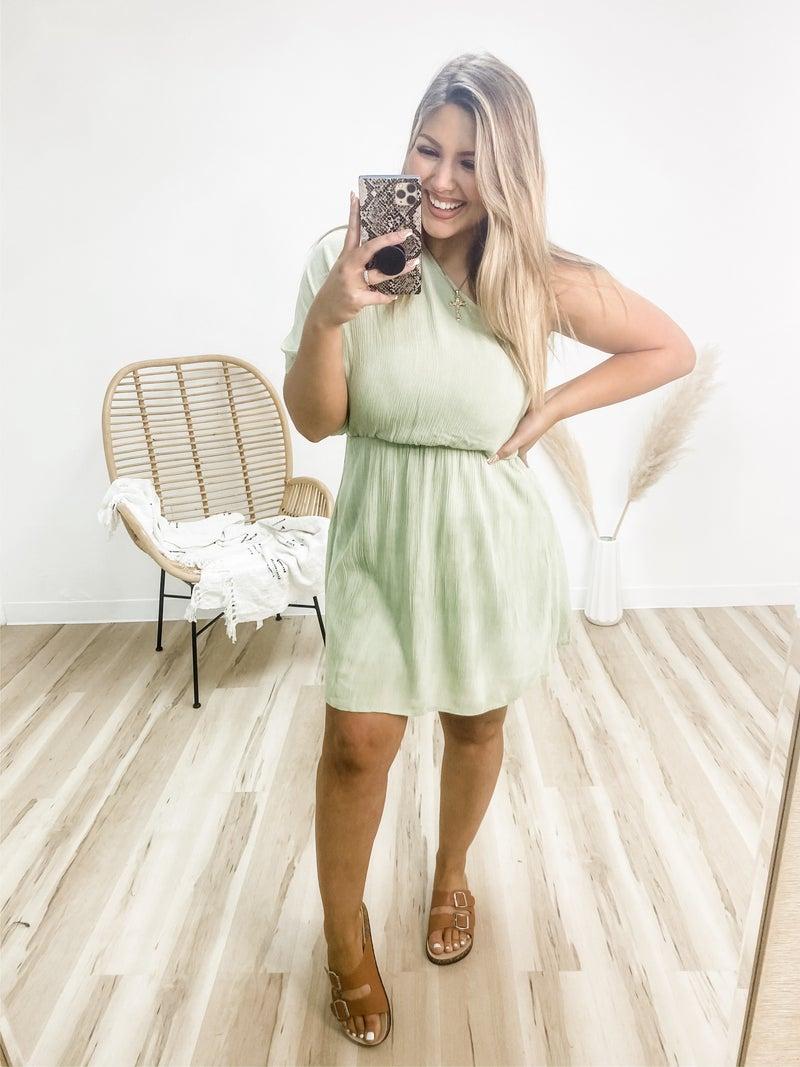 I Like My Martinis Dirty One Shoulder Dress