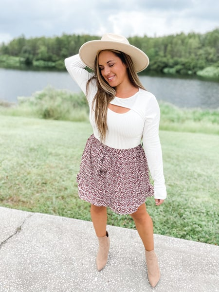 Couldn't Be Sweeter Burl Wood Mini Skirt