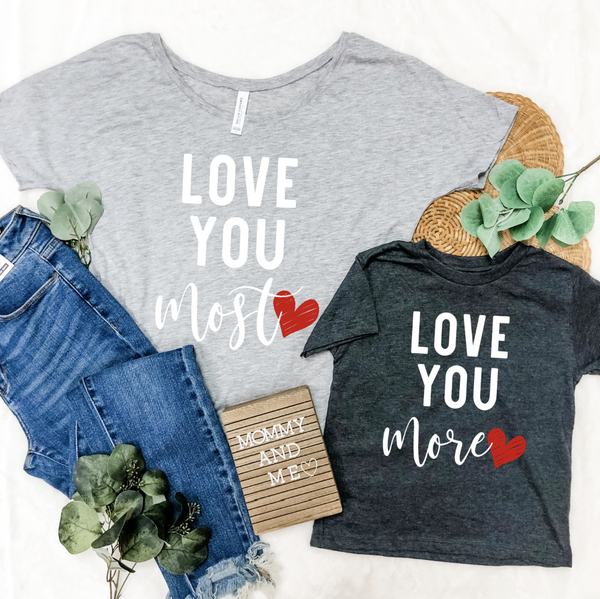 LOVE YOU MOMMY & ME GRAPHIC TEES