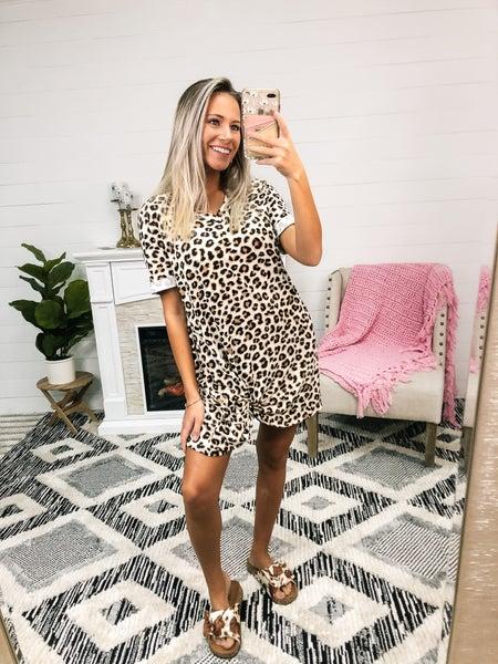 Saving Grace Leopard Knot Dress
