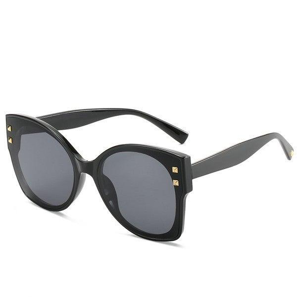 Grey Black Dandy Cat Eye Sunglasses