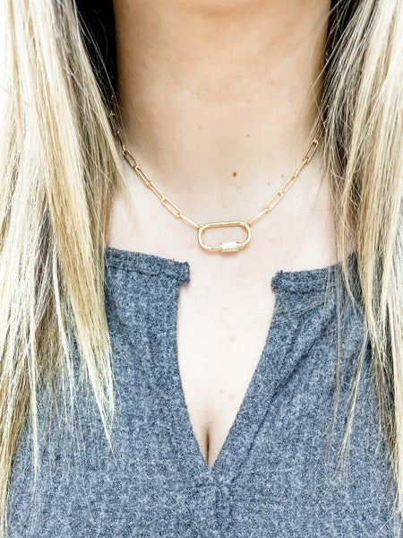 Break The Chain Gold Paperclip Chain Necklace
