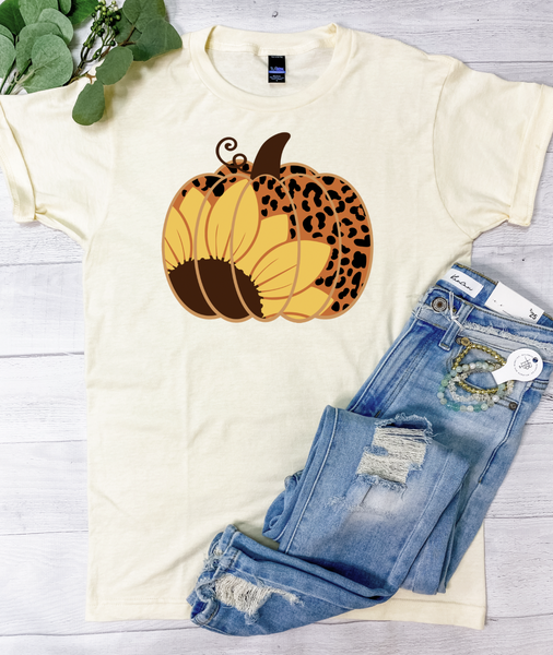 Leopard Pumpkin Graphic Tee