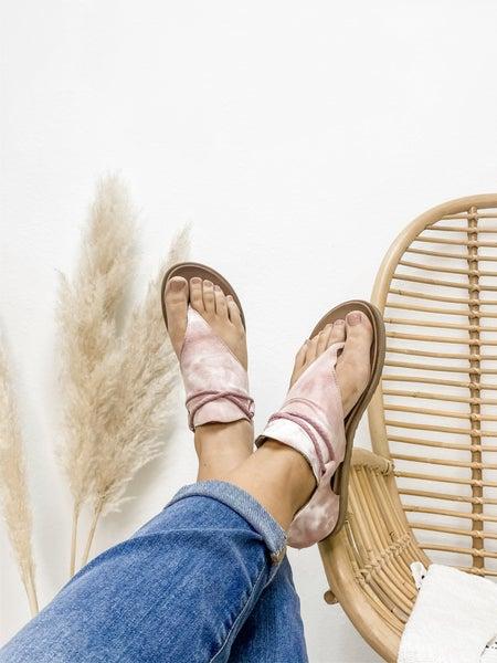 Blush Washed Zip Up Sandal