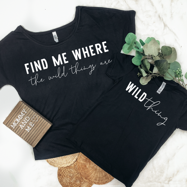WILD THINGS MOMMY & ME GRAPHIC TEES