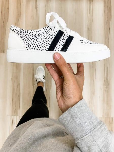 Black Polka Dotted Sneakers