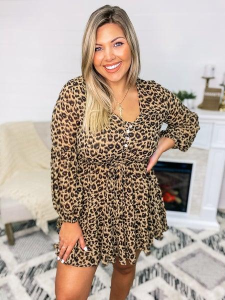 Through The Night Leopard Dress