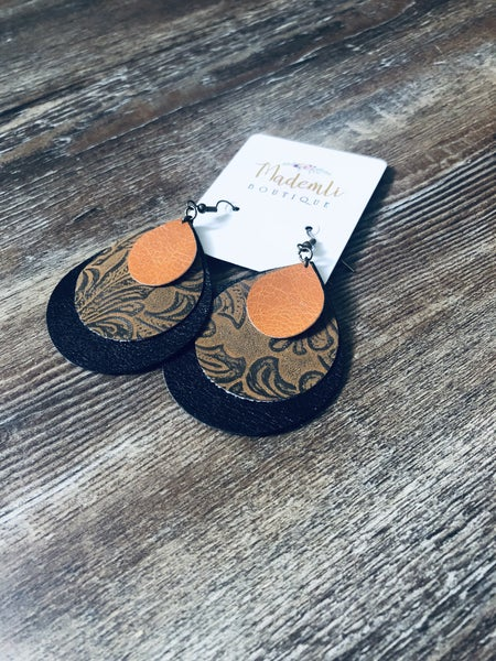 Triple layer fall earrings