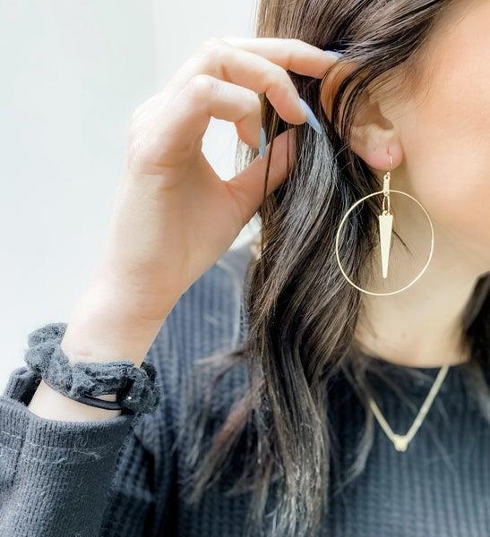 Spiked & Sassy Hoop Earrings