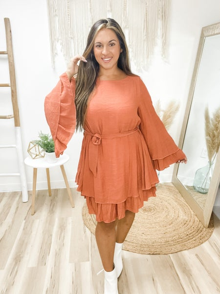 The Flow Of Things Terracotta Dress
