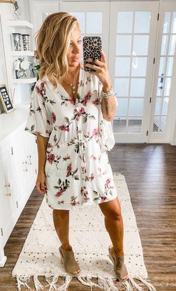 Picking Wildflowers Button-Down Dress