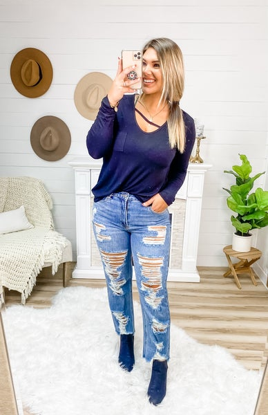 In The Rough Heavy Distressed Jeans