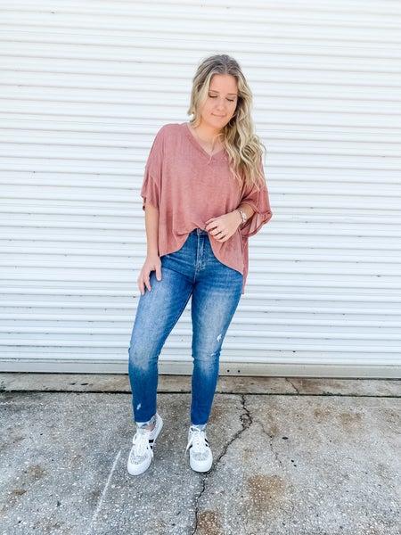 Vintage Ways High Rise Distressed Jeans