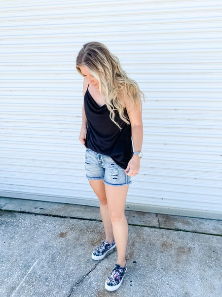 Patch Things Up Distressed Judy Blue Shorts