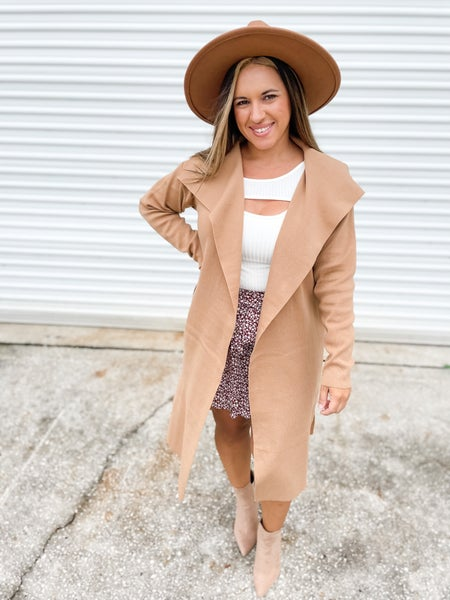 It Doesn't Matter Solid Camel Coat