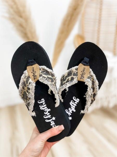 Tan Leopard Flip Flop