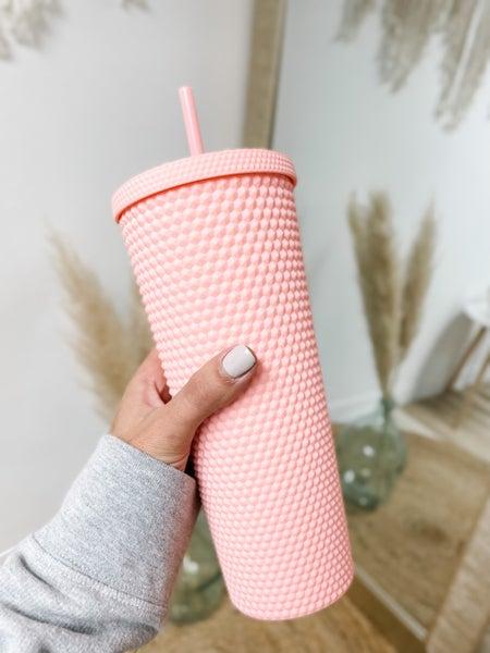 Studded Matte Pink Tumbler