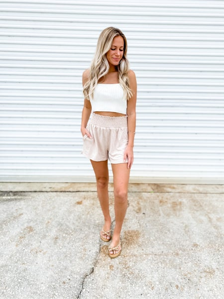 Total Softie Taupe Lounge Shorts