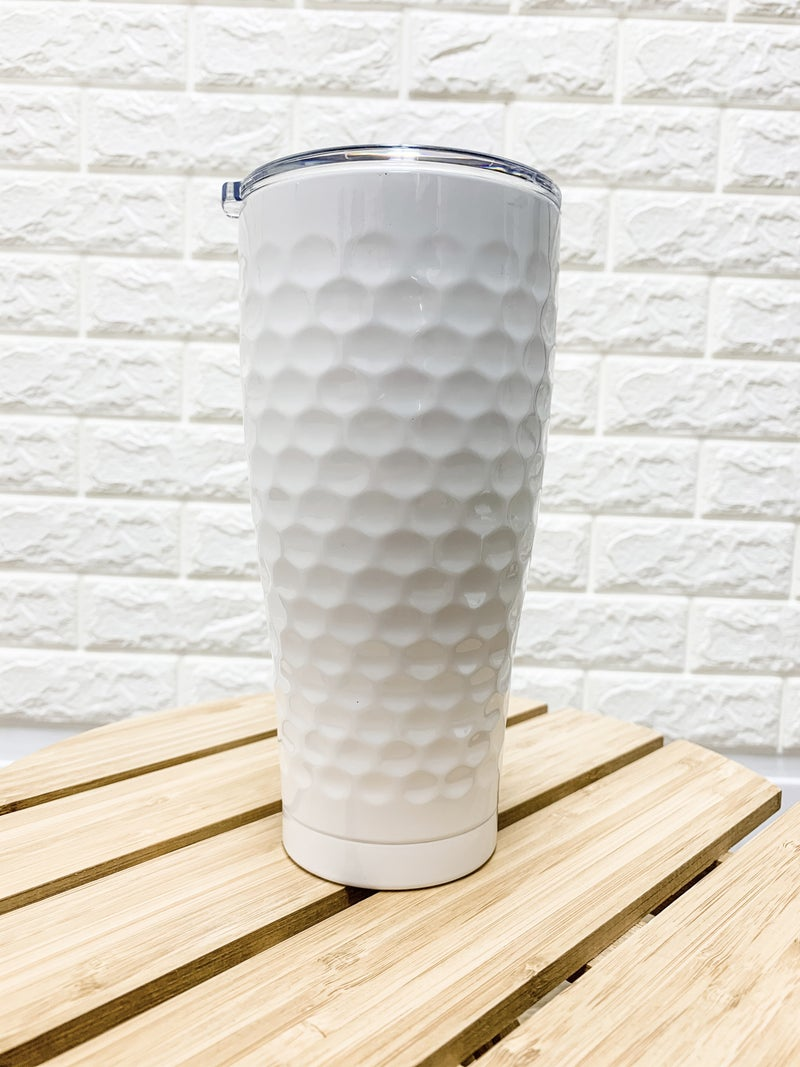 30 oz Dimpled Golf SIC Stainless Steel Tumbler