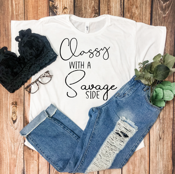 CLASSY WITH A SAVAGE SIDE GRAPHIC TEE