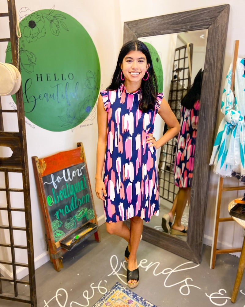 Michelle Navy Dress