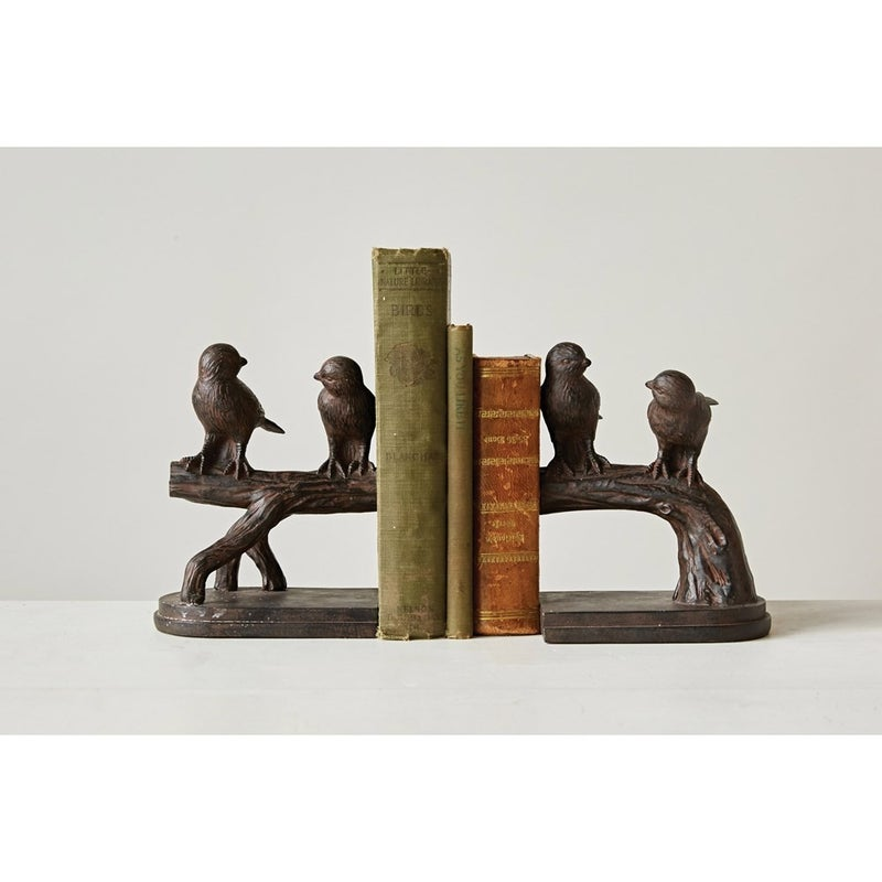 "6-1/4""H Resin Bird on Branch Bookends Set of 2"