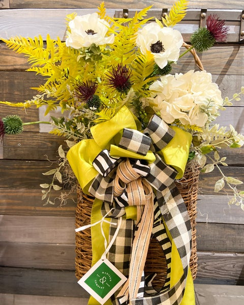 Fall Fern and Hydrangeas Basket